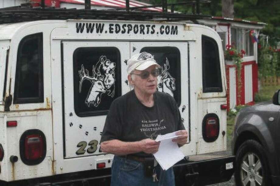 Doug Loomis, of Ed's Sport Shop in Baldwin, reports on the salmon run.(Pioneer News Network file photo)