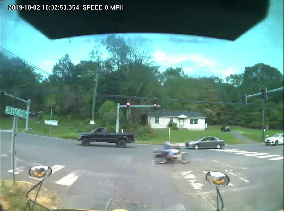 Middletown police released three video stills which show a suspect authorities believe struck a pedestrian in the crosswalk at Newfield and Westfield streets and fled the scene Oct. 3. Photo: Contributed Photo