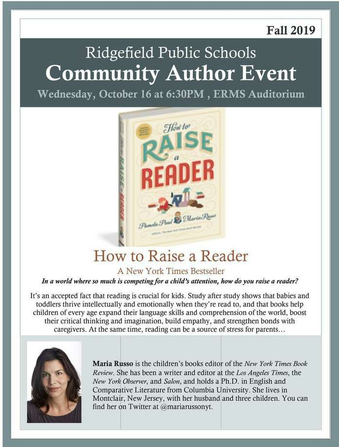 Ridgefield Public Schools will present author Dr. Maria Russo who will discuss her new book, How to Raise a Reader on Wednesday, Oct. 16. Photo: Contributed Photo.