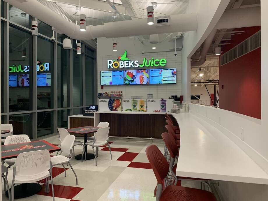 The Robeks juice and smoothie shop at the Bobby Valentine Health and Recreation Center at Sacred Heart University in Fairfield. Photo: Robeks