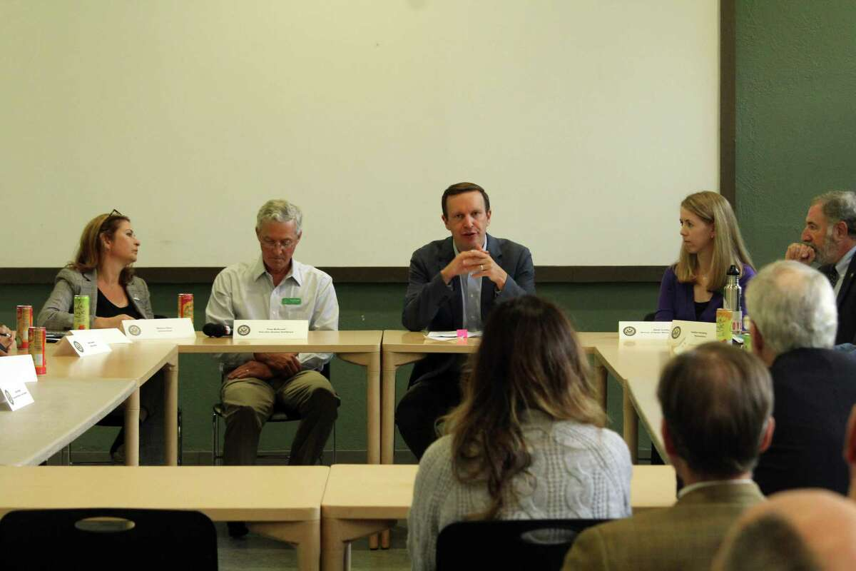 U.S. Sen. Chris Murphy hosted a roundtable discussion at Earthplace in Westport to discuss the Save Our Seas 2.0 Act, a bipartisan legislation that includes a Murphy-authored proposal to increase research on plastic alternatives. Taken Oct. 7, 2019 in Westport, Conn.