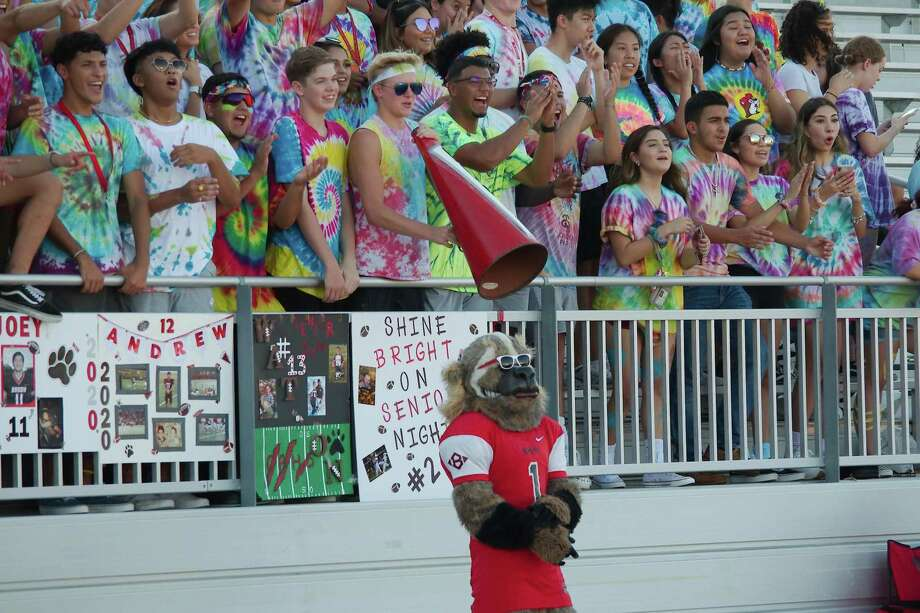 The Clear Brook Wolverine mascot along with Clear Brook fans show support earlier this season against Friendswood. Photo: Kirk Sides / Staff Photographer / © 2019 Kirk Sides / Houston Chronicle