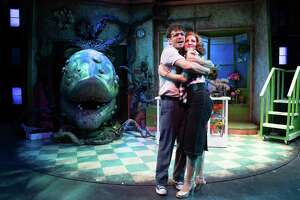 "Robb Sapp and Laura Woyasz star in ""Little Shop of Horrors."""