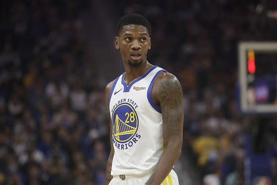 Golden State Warriors forward Alfonzo McKinnie (28) is seen during a preseason NBA basketball game in San Francisco, Saturday, Oct. 5, 2019. McKinnie, who was waived by the Warriors, was claimed by the Cleveland Cavaliers on Monday. Photo: Jeff Chiu / Associated Press