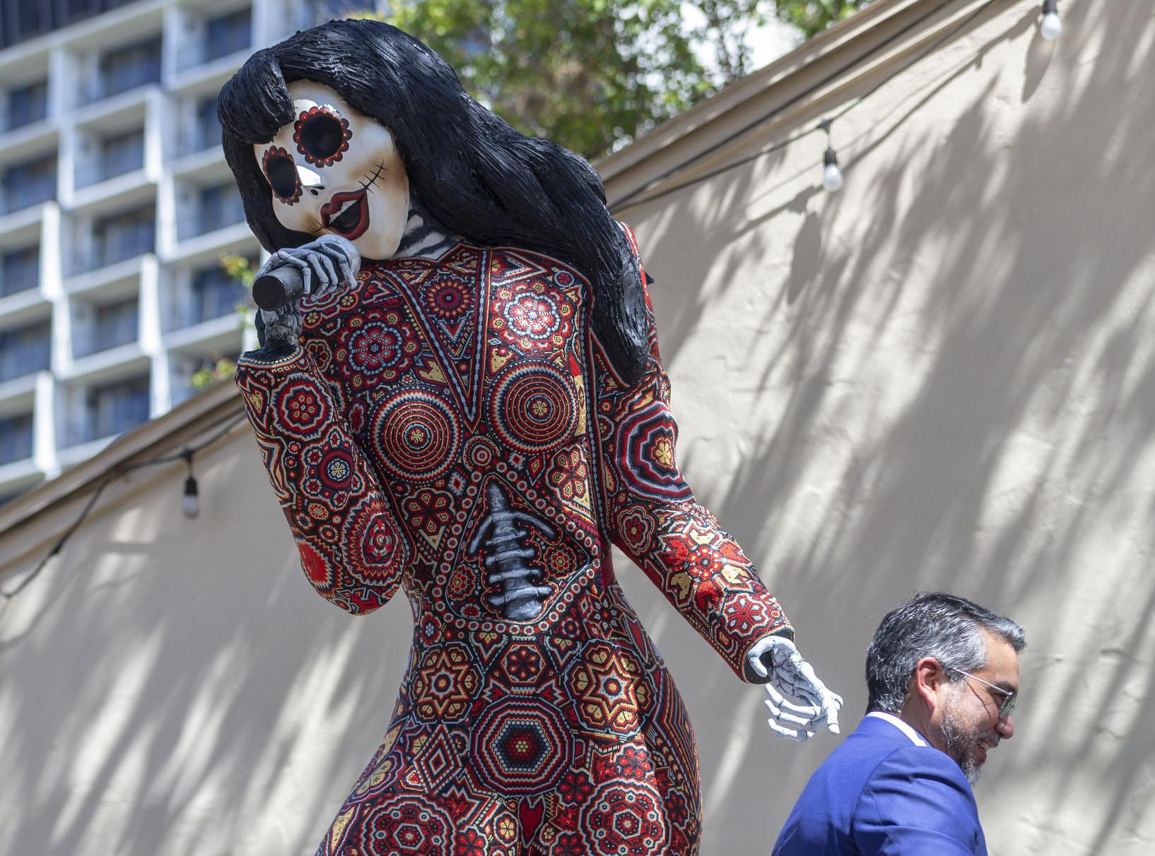 Colorful Day Of The Dead Trajineras Float In For San