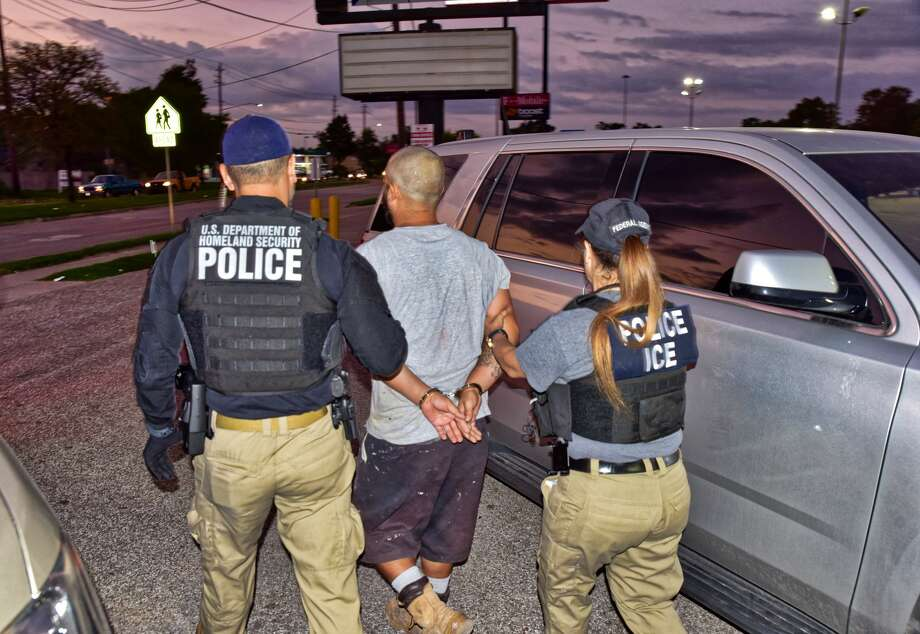 ICE agents arrested Cesar Diaz-Rodriguez, 30, on Oct.8, 2019, in Houston, Texas, after receiving tips that he had threatened to shoot officers with their agency. He had previously been deported in 2017 and had illegally entered the U.S. five times. Photo: U.S. Immigration And Customs Enforcement /