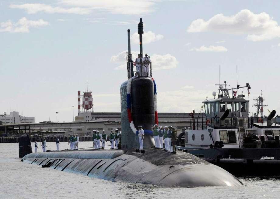 The Virginia-class attack submarine USS Texas in 2010. Photo: U.S. Navy Photo By Mass Communication Specialist 2nd Class Ronald Gutridge. / Handout