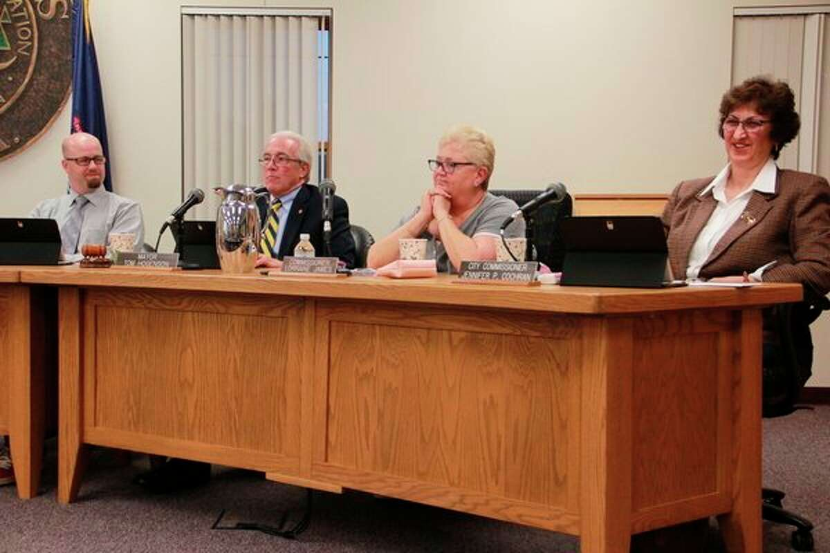 """After discussion, the commission had 4/5 vote """"no"""" to opt out of allowing recreational marijuana facilities in the city of Big Rapids, with Big Rapids City Commissioner Lorraine James voting """"yes"""" to opt out, and therefore prohibit, recreational marijuana facilities in the city. (Pioneer photo/Alicia Jaimes)"""