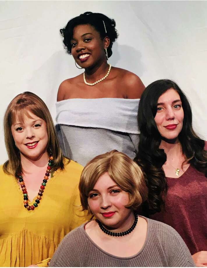 """Respect"" opens Oct. 11 at the Connecticut Cabaret Theater in Berlin. Pictured are Erin Liddell, front, Emily Gray, left, and Maria Soaft, right, and Erica Whitfield, back. Photo: Connecticut Cabaret Theater / Contributed Photo /"