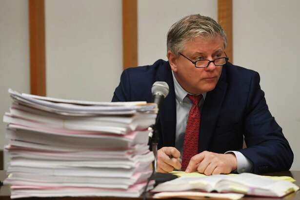 Deputy Bridgeport City Attorney John Bohannon, Jr. questioned a witness in a lawsuit seeking to throw out the results of the recent Bridgeport Democratic primary.