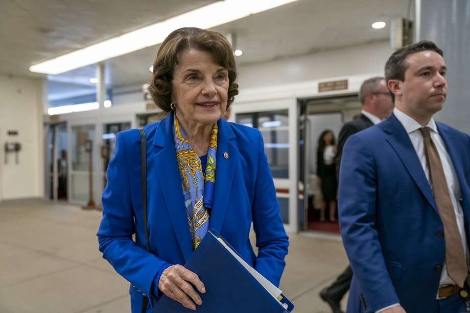 "Sen. Dianne Feinstein's latest call for building a ""Southern Crossing"" bridge connecting the East Bay and the Peninsula was not supported by the Metropolitan Transportation Commission. (Nov. 15, 2019) Photo: J. Scott Applewhite / Associated Press"