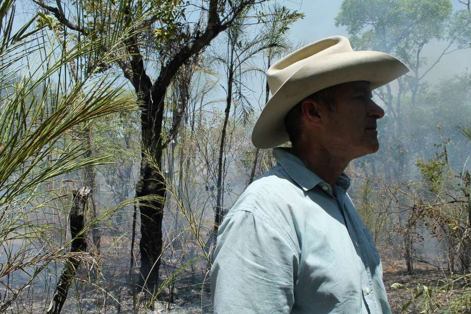 Former U.S. Army paratrooper-turned-rancher John Carter started the Alliance Brigade in 2009 to combat fires in the Amazon. He still journeys into the rainforest with the firefighters. Photo: Washington Post Photo By Terrence McCoy. / The Washington Post