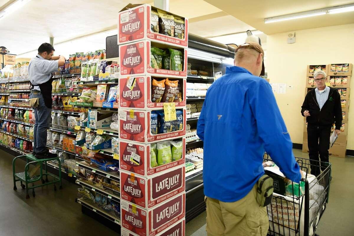 Shoppers at El Cerrito Natural Grocery Company prior to the PG&E shut offs on October 8, 2019 in El Cerrito, Calif.