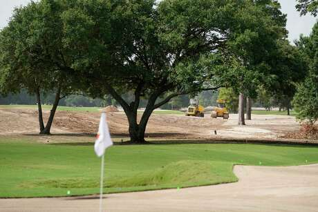 Memorial Park and its 12th green, shown during renovation this summer, are on track to open on Nov. 4.