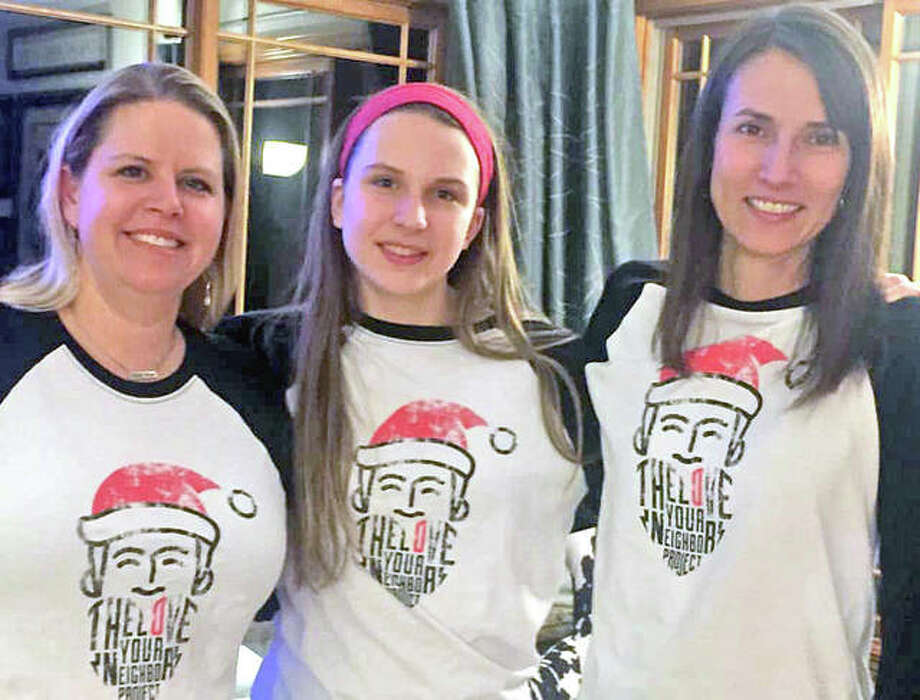 Project 612 Co-Directors Renee Guttmann, left, and Gwyn Marini, right, with Julietta Marini, whose request to bring home unconsumed lunch items as an elementary student sparked the idea of Project 612. Photo: For The Intelligencer