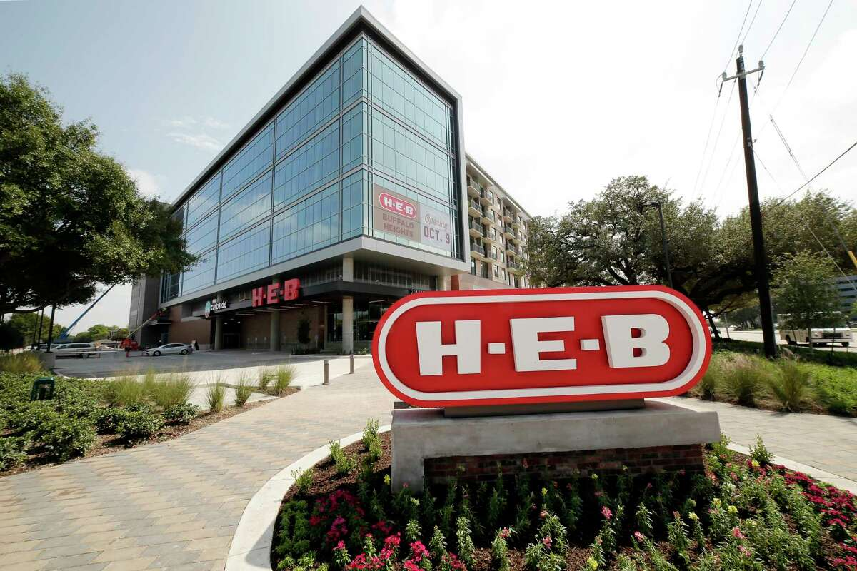 The exterior of the new H-E-B Monday, Oct. 7, 2019 in preparation for the Oct. 9th opening at Buffalo Heights in Houston, TX.