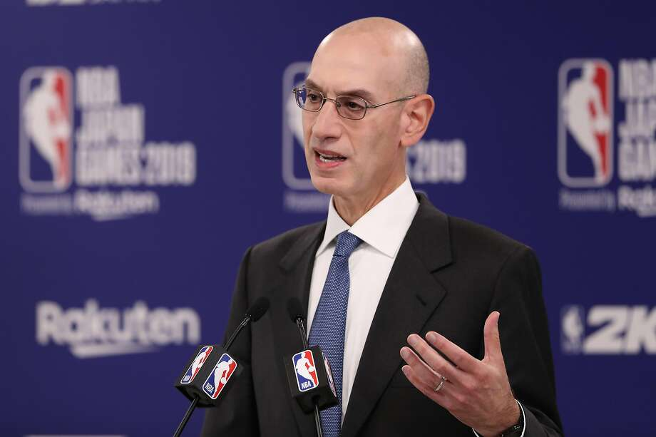 NBA commissioner Adam Silver will meet with former Rocket Yao Ming. Photo: Takashi Aoyama / Getty Images