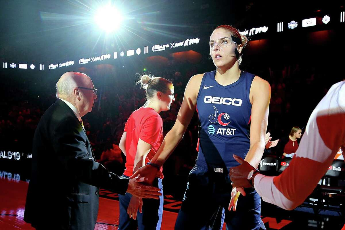 UNCASVILLE, CONNECTICUT - OCTOBER 08: Elena Delle Donne #11 of Washington Mystics is announced before Game Four of the 2019 WNBA Finals between the Washington Mystics and Connecticut Sun at Mohegan Sun Arena on October 08, 2019 in Uncasville, Connecticut. (Photo by Maddie Meyer/Getty Images)