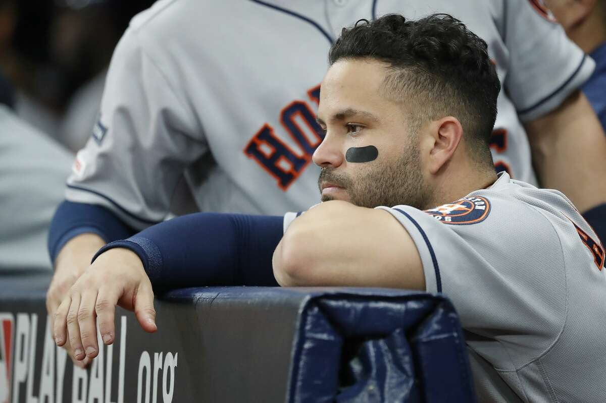 Jose Altuve and the Astros are staring at the possibility of their record-setting season ending in shocking fashion Thursday night.