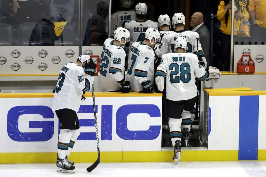 The Sharks tied their worst start to a season in franchise history, equaling their opening rut in the 1993-94 season. Photo: Mark Humphrey / Associated Press