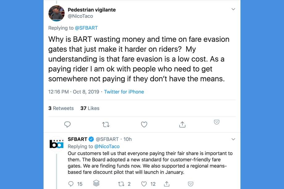 BART's new GM, Robert Powers, answered riders' questions in a Twitter town hall on Tuesday. Here are some of the questions people asked about BART. Photo: Twitter Screenshot