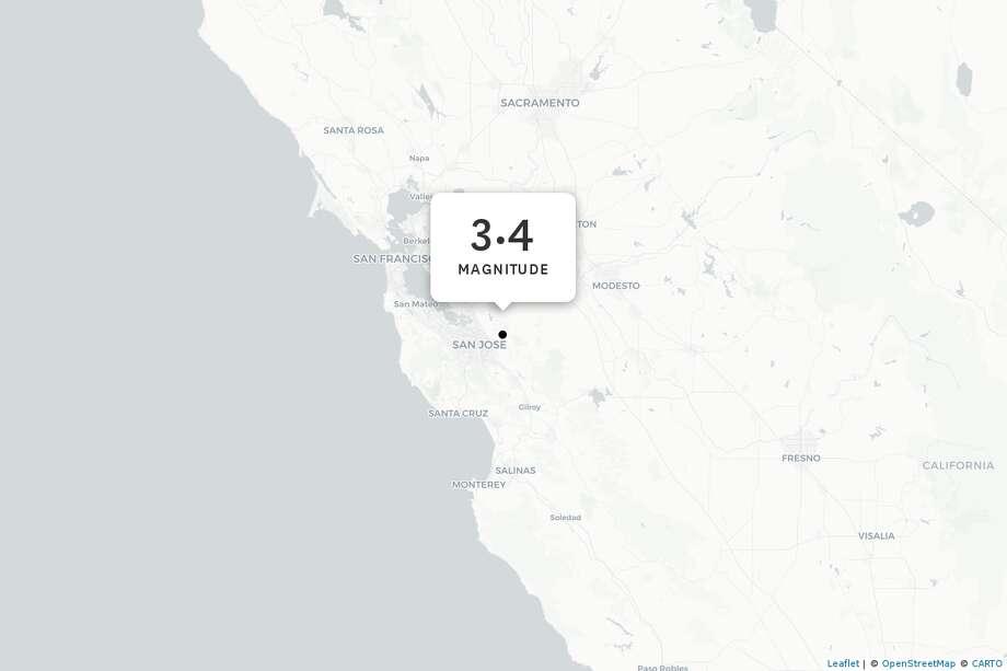 The epicenter of Wednesday's quake near San Jose. Photo: Leaflet, Carto