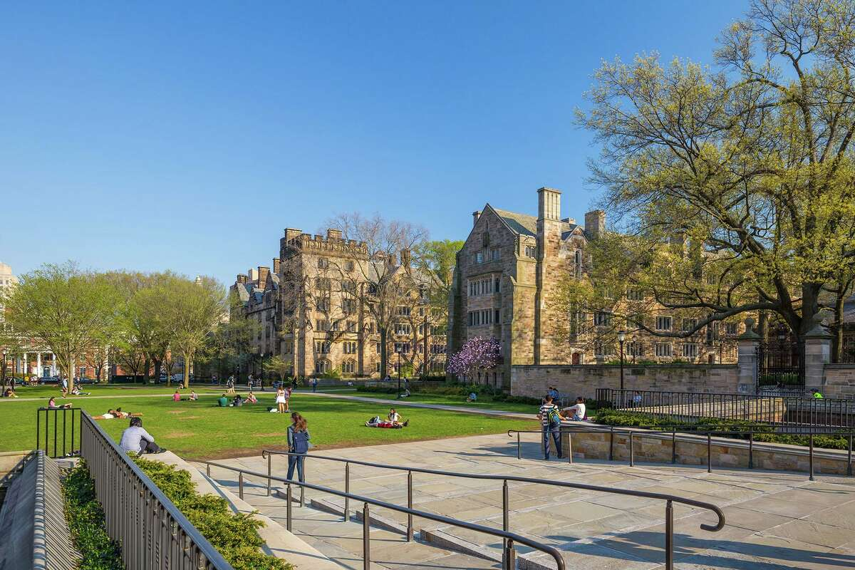 The Yale University campus on April 4, 2015, in New Haven.