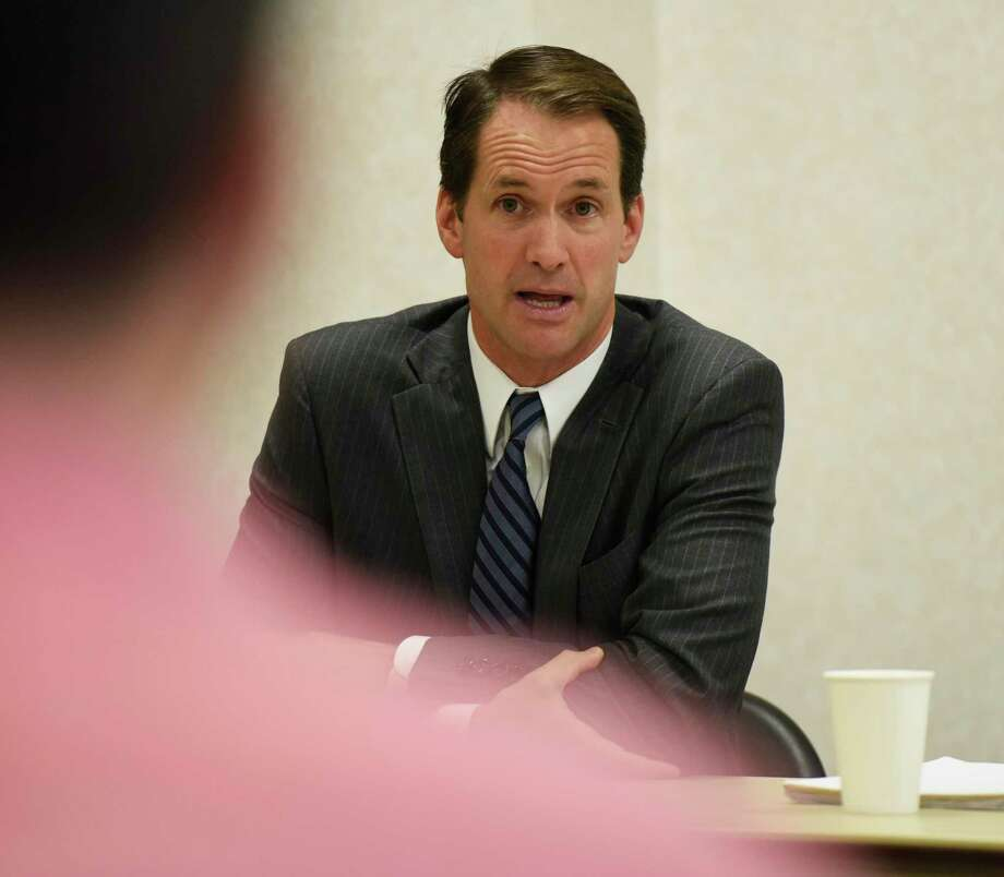 U.S. Rep. Jim Himes, D-Greenwich, speaks during a roundtable discussion on guns at Town Hall in Greenwich, Conn. Thursday, Oct. 4, 2018. Himes will discuss gun violence prevention and the importance of political participation by college students at Norwalk Community College on Thursday, Oct. 10, 2019. Photo: Tyler Sizemore / Hearst Connecticut Media / Greenwich Time