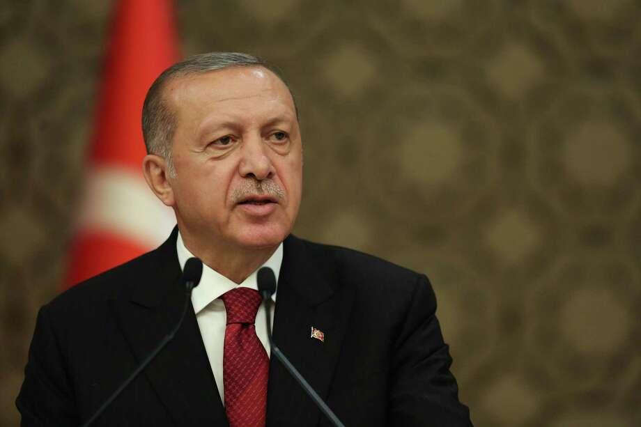 Recep Tayyip Erdogan, Turkey's president, at the Presidential palace in Ankara, Turkey, on July 9, 2018. Photo: Bloomberg Photo By Arif Akdogan. / © 2018 Bloomberg Finance LP