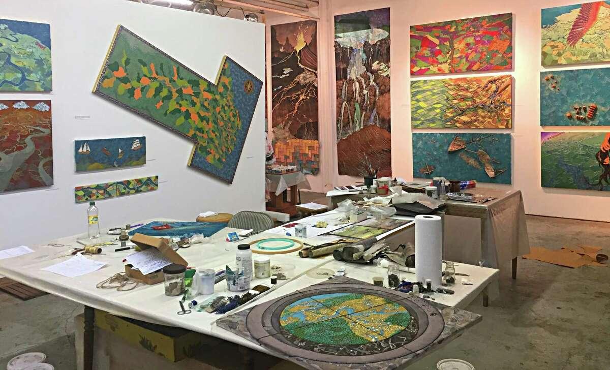 Leila Daw's studio brims with inventive artworks.