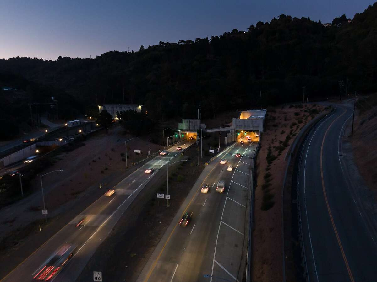 The Cadecott Tunnel is open for morning commute on Thursday, Oct. 10, 2019 in Oakland, Calif.
