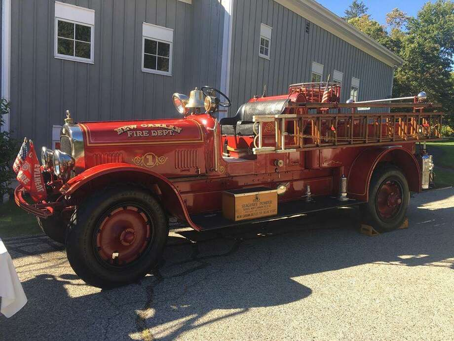 Antique fire trucks were part of the opening on an exhibit looking at the history of firefighting in New Canaan on Oct. 5 at the New Canaan Museum and Historical Society. New Canaan Museum / Contributed photo Photo: New Canaan Museum / Contributed Photo / New Canaan Advertiser Contributed