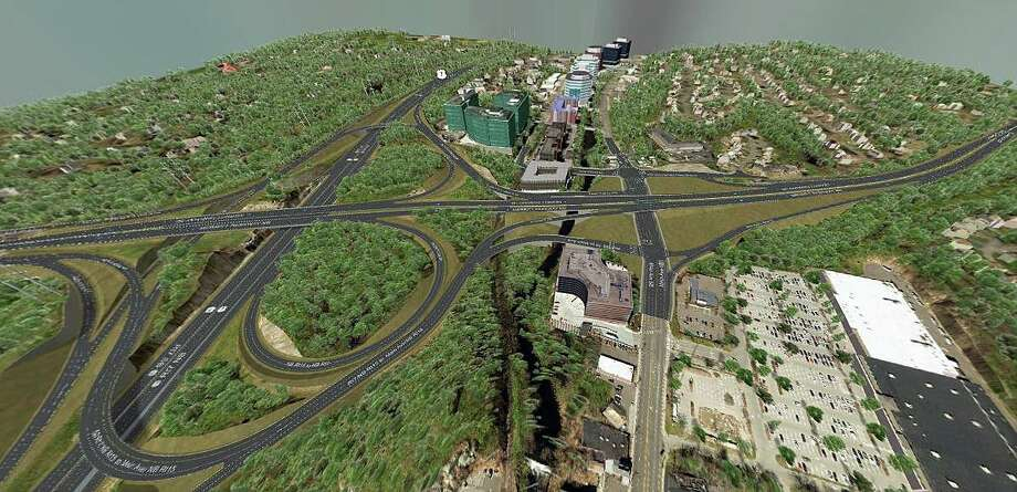 This is an overview of the proposed Route 7 and Merritt Parkway interchange. The image is part of a 3D virtual tour of the project that can be found at http://7-15norwalk.com/virtualtour Photo: State DOT