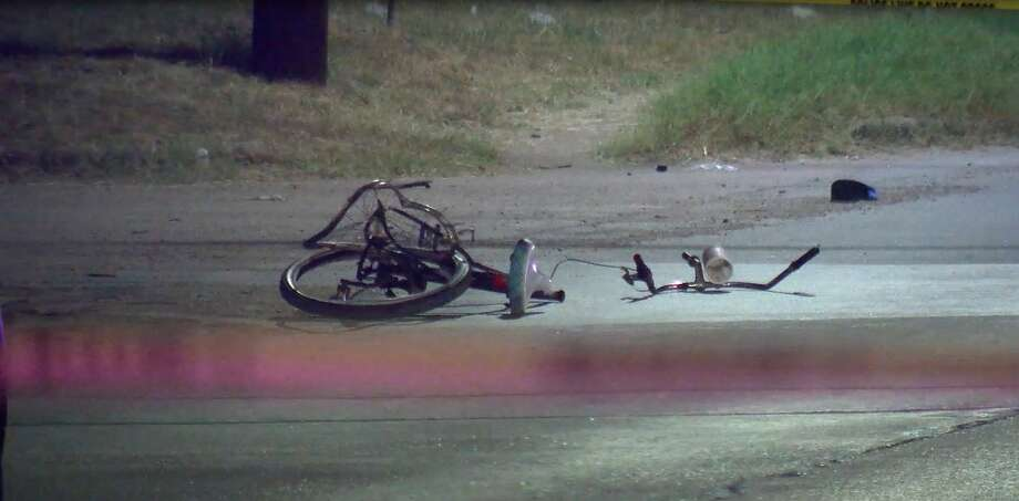 A bicyclist was killed Tuesday night in a crash involving a Houston police cruiser, police said. Photo: OnScene.TV