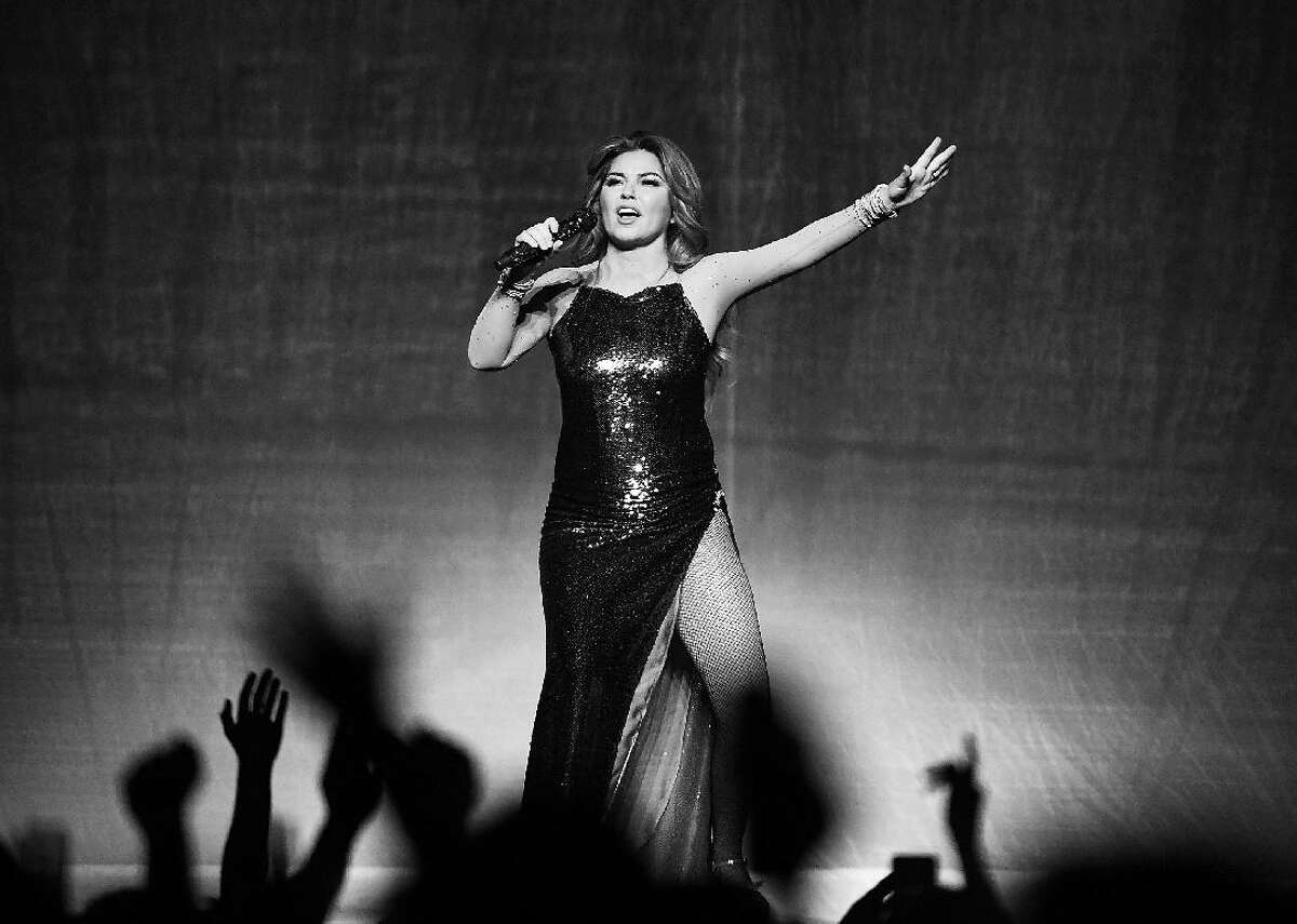 #40. Shania Twain - Total earnings: $12,000,000 --- Sales: $275,300 --- Streaming: $480,500 --- Publishing: $175,600 --- Touring: $11,000,000 Canadian country singer Shania Twain is often regarded as the