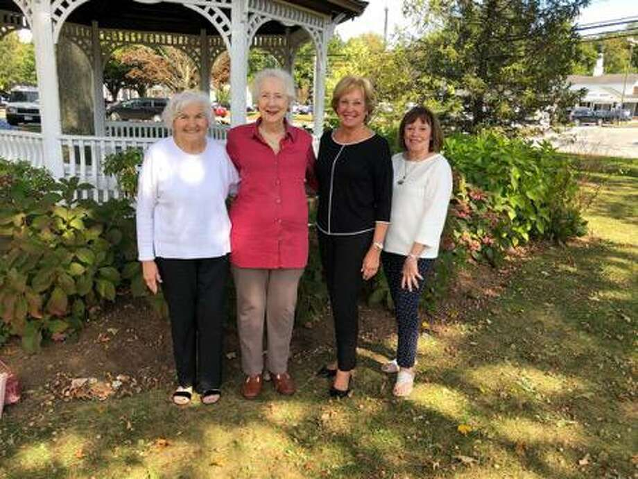 Members of the Wilton Encore Club, from left, Luisa Kelso, Dolores Banta, Betsy Pettit and Jeanne Egut will model fashions at the club's annual fall luncheon and fashion show on Oct. 18. Photo: Contributed Photo / Wilton Encore Club / Wilton Bulletin Contributed