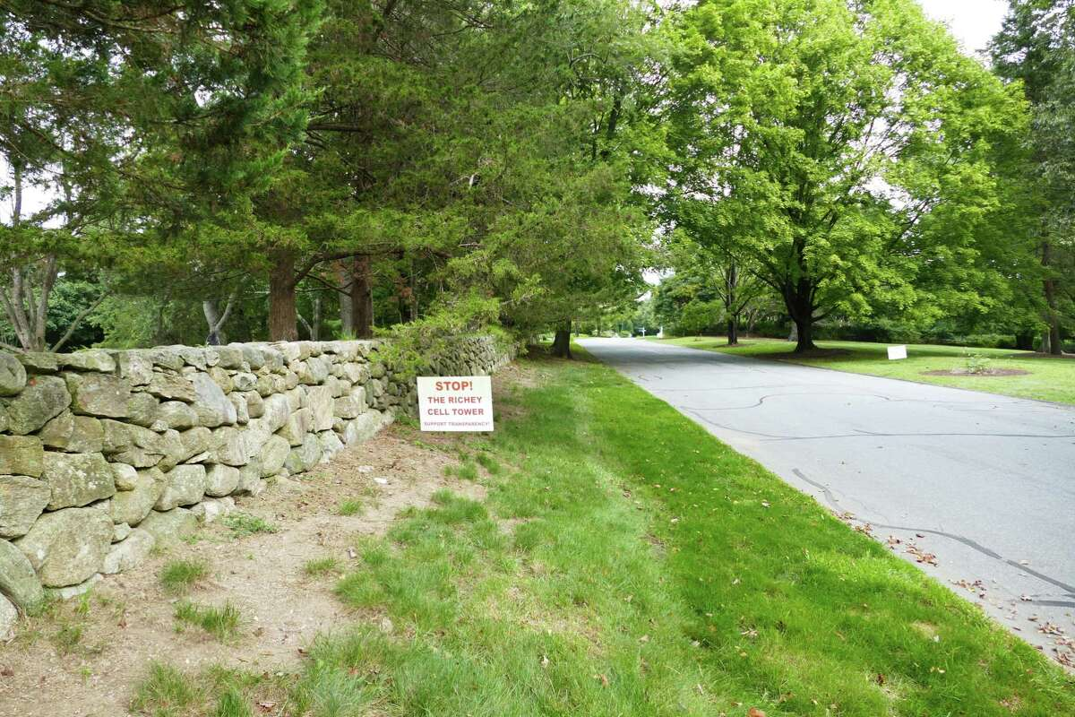 Some neighbors do not want a cell tower on Soundview Lane in New Canaan. Picture was taken Sept. 6, 2019