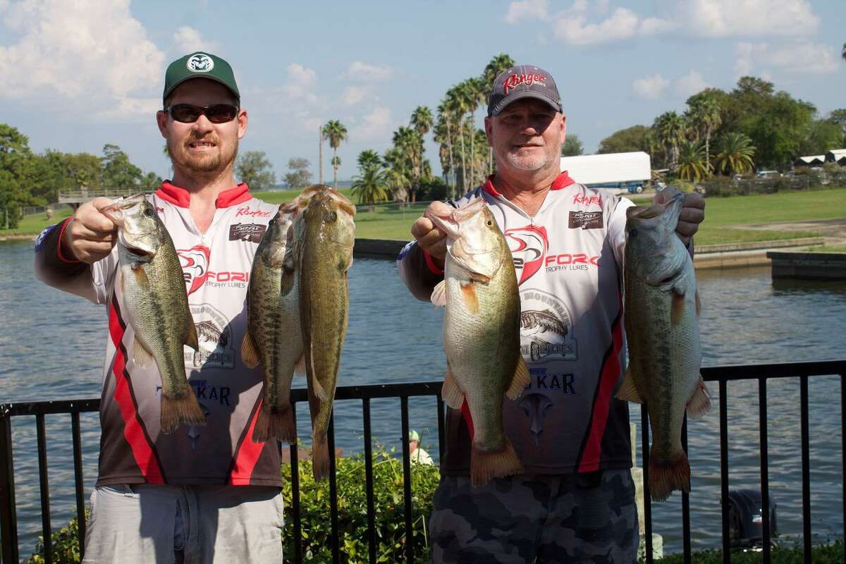 Evan and Tim Carlson came in second place the CONROEBASS Tuesday Team Series Championship with a stringer weight of 20.30 pounds.