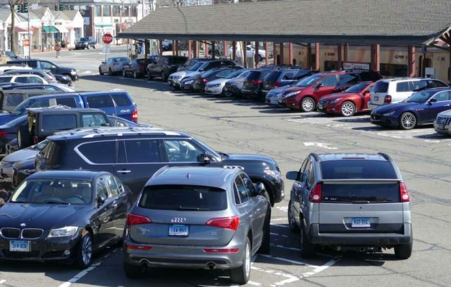 A previous picture of a parking lot at the New Canaan train station. Grace Duffield / Hearst Connecticut Media Photo: Grace Duffield / Hearst Connecticut Media