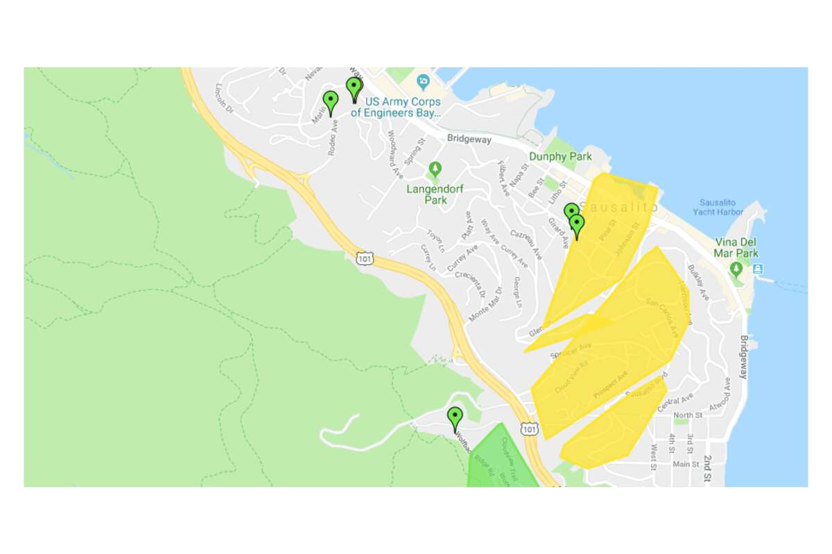 There were patchy outages in Sausalito, but it still may be the best bet to find electricity for those in nearby Marin City - where outages were even more widespread.