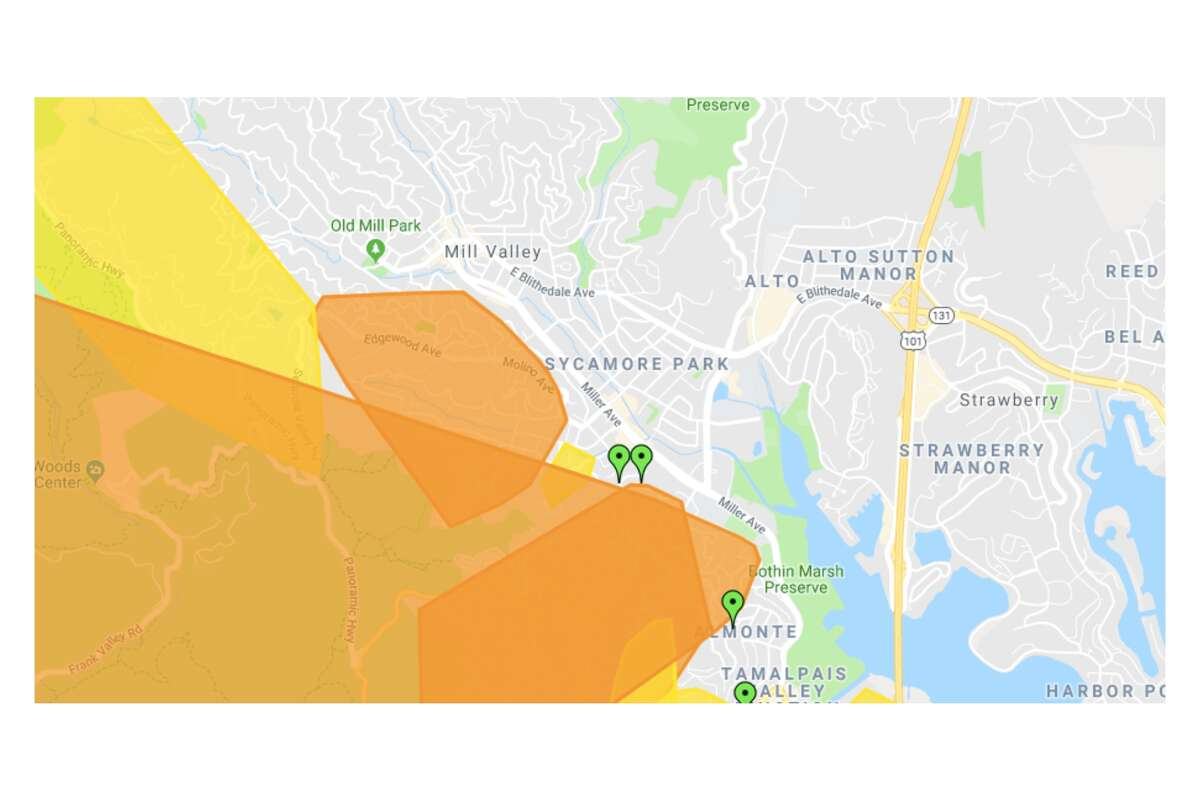 For those without power in Mill Valley and Tamalpais Junction, your best bet is to head to the other side of Miller Avenue, where the power situation is looking much better.