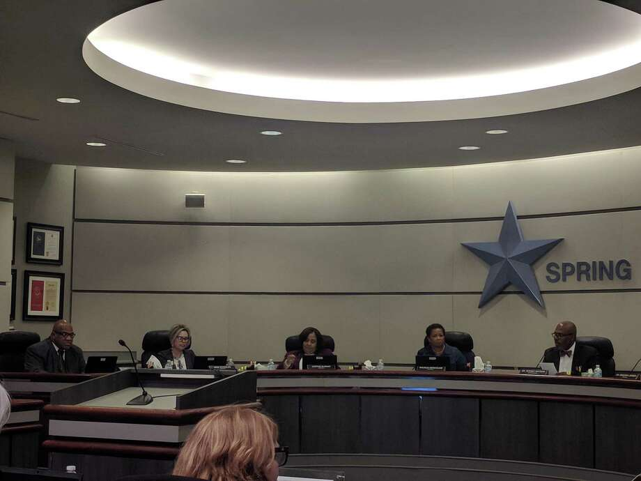 Spring ISD board members approve about $19.5 million in expenditures during their Tuesday board meeting, including a $1,000 retention supplement to each Spring ISD employee in good standing. Photo: Paul Wedding