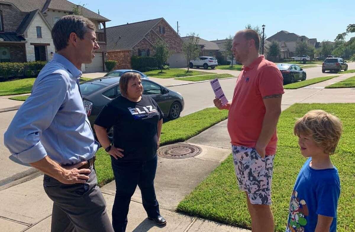 "Democratic presidential candidate Beto O'Rourke campaigned door to door with State House District 28 candidate Elizabeth ""Eliz"" Markowitz in September."
