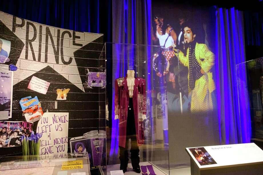 "Prince's iconic suit from ""Purple Rain"" is on display at the Minnesota History Center through May 3, 2020. Photo: Photo By Tiffany Clark For The Washington Post. / For The Washington Post"