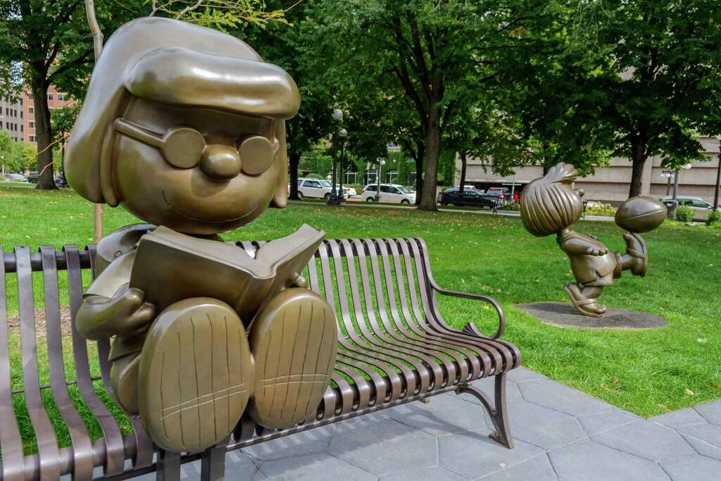 Rice Park is home to several bronze statues, including some Peanuts characters as an ode to St. Paul native Charles Schulz.