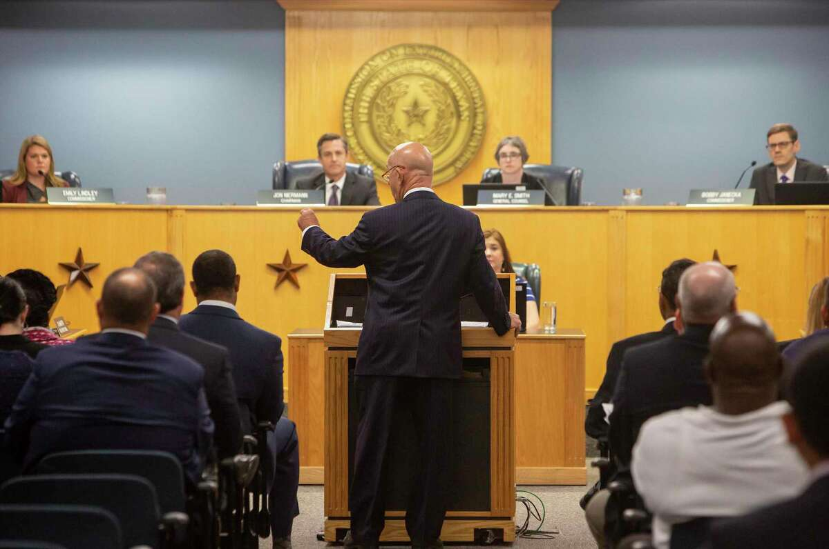 Sen. John Whitmire (D-Houston), speaks during the Oct. 9 TCEQ Commissioners' Agenda Meeting in Austin, Texas.