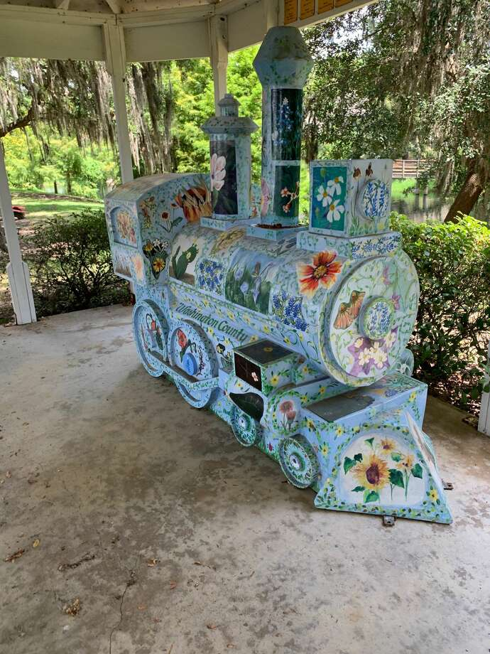 This art train will be auctioned. Photo: Courtesy Of Susan Cooley