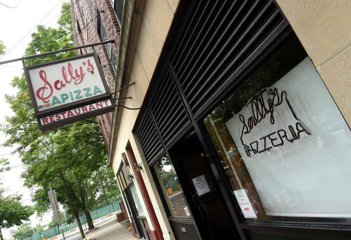Sally's Apizza on Wooster Street in New Haven.