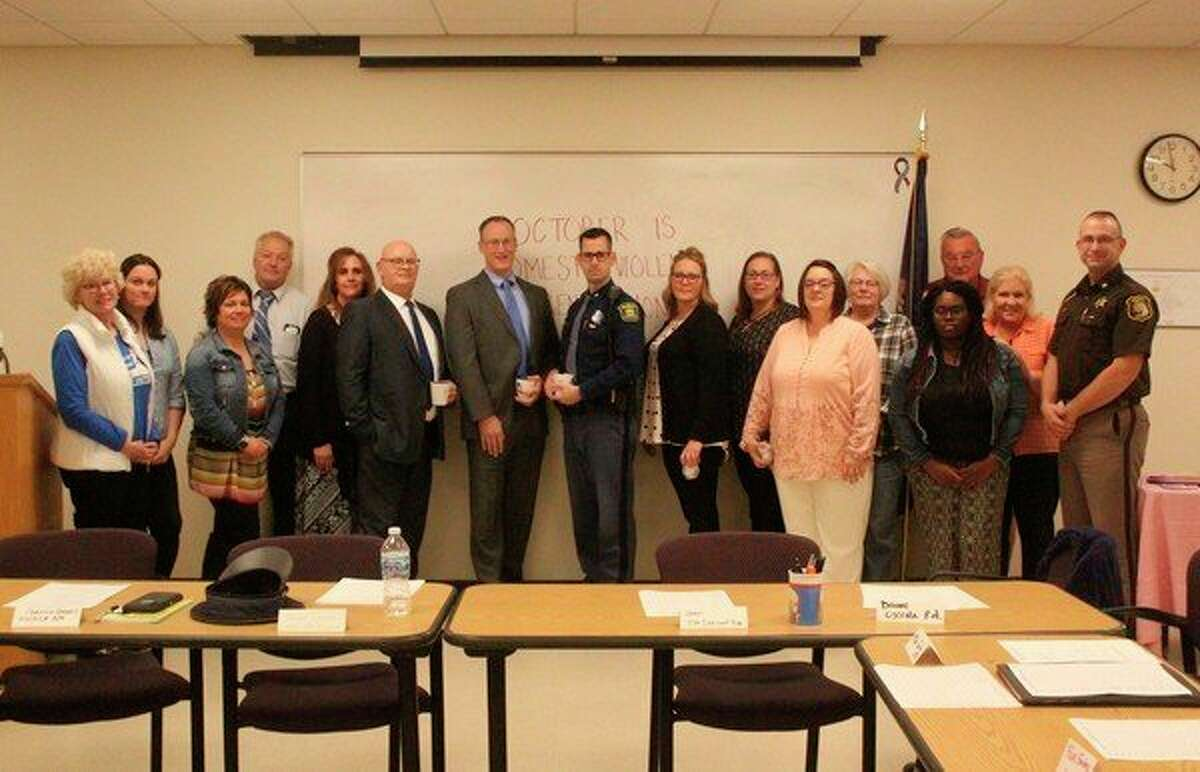 Members of the Women's Information Service, Inc. Domestic Violence Response Team (WISE DVRT) recognized people in Mecosta and Osceola counties who work to help people and families impacted by domestic violence.Also recognized this week were several victim advocates with WISE, who work with individuals from the first point of contact through court proceedings.(Pioneer photo/Taylor Fussman)