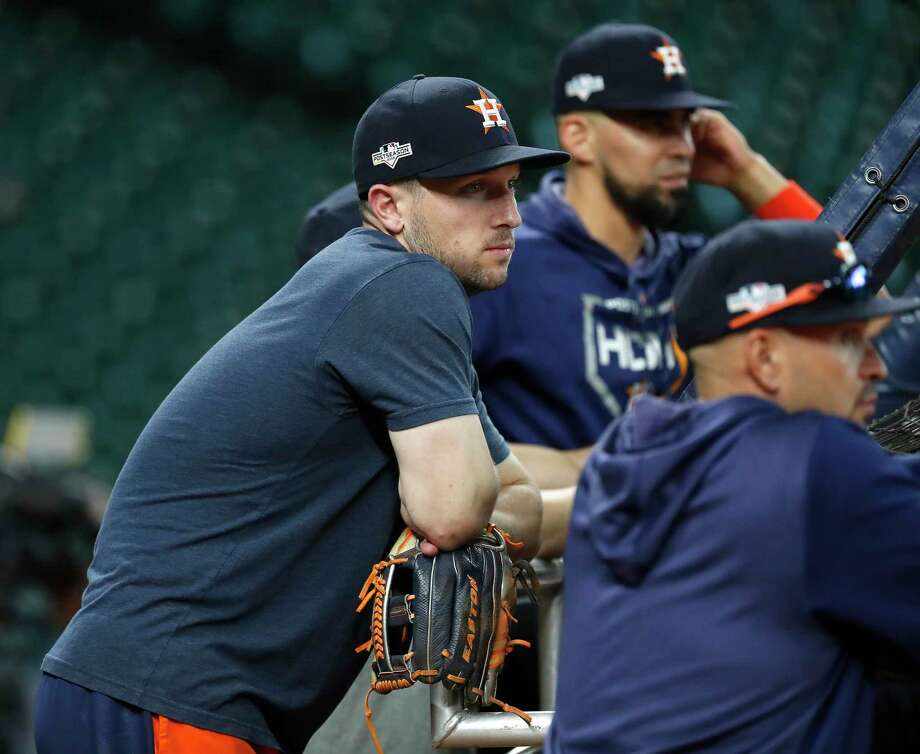 PHOTOS: A look at the Astros' workout on Wednesday Houston Astros Alex Bregman watches batting practice during optional workouts at Minute Maid Park, Wednesday, Oct. 9, 2019, in Houston. Photo: Karen Warren, Staff Photographer / © 2019 Houston Chronicle